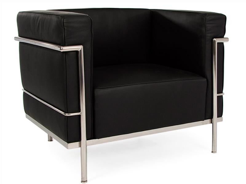 Lc2 fauteuil large le corbusier noir - Fauteuils le corbusier ...