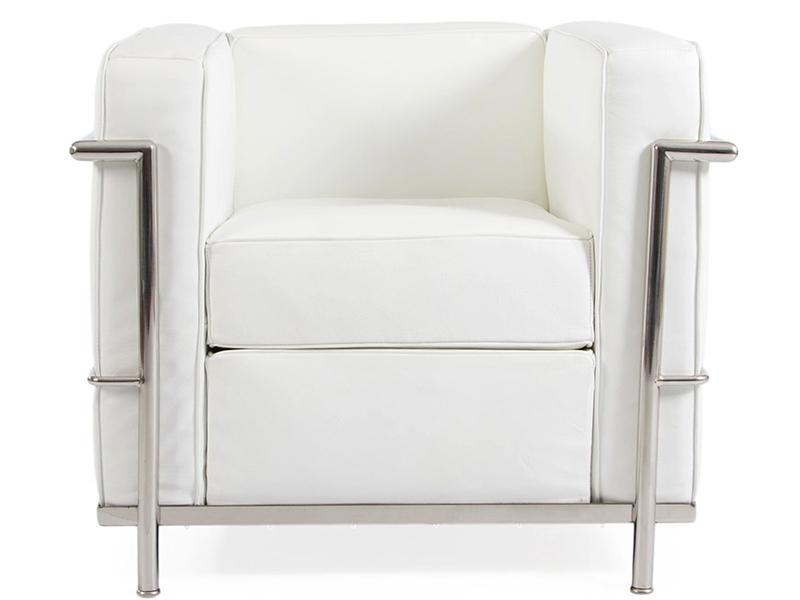 Lc2 fauteuil le corbusier blanc - Fauteuil le corbusier prix ...