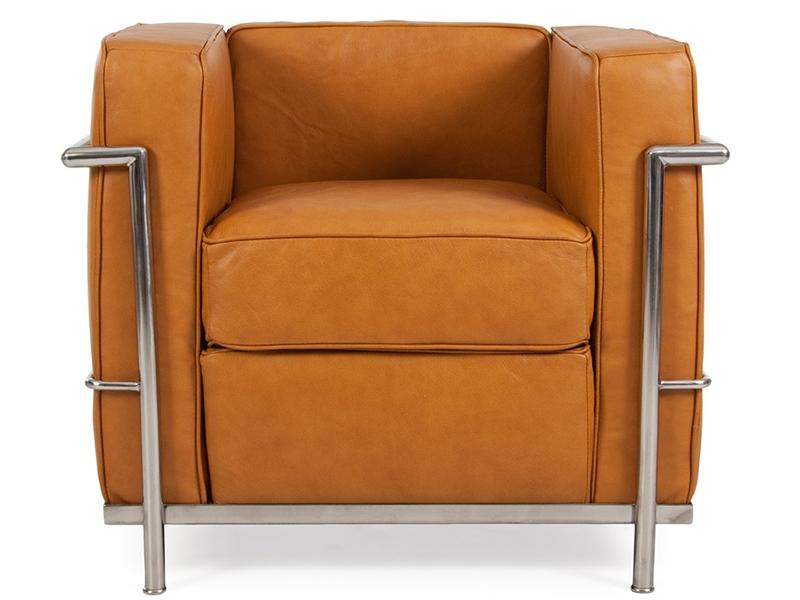 Lc2 fauteuil le corbusier caramel - Fauteuil le corbusier prix ...