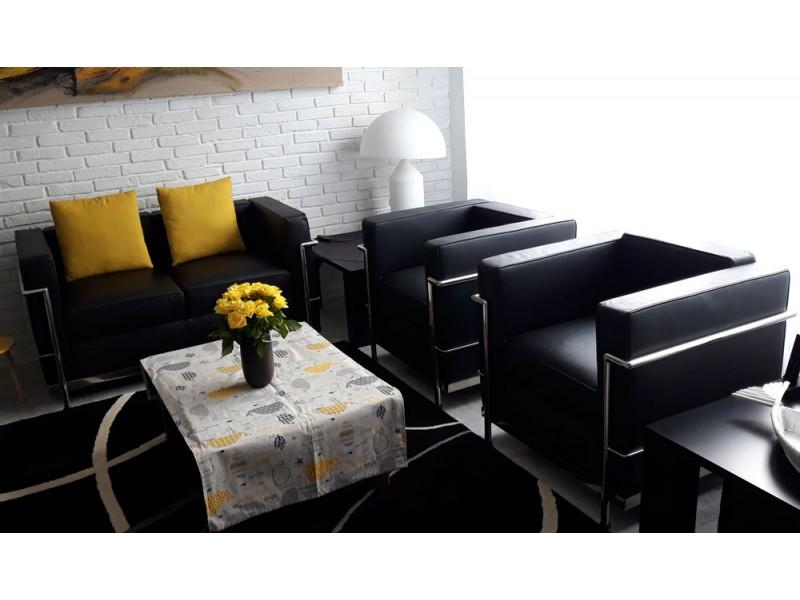Image du fauteuil design LC2 Fauteuil Le Corbusier - Noir