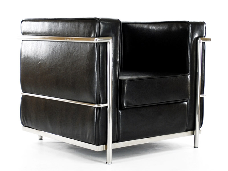 lc2 le corbusier noir brillant. Black Bedroom Furniture Sets. Home Design Ideas