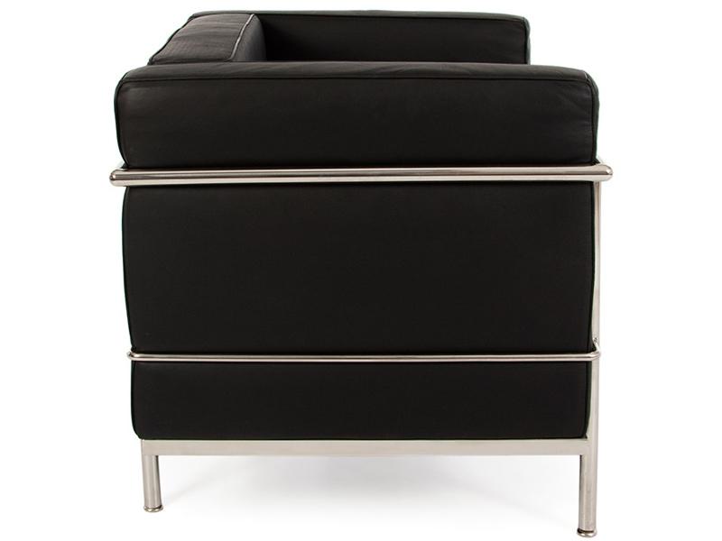 Image du fauteuil design LC2 Poltrona Large Le Corbusier - Nero