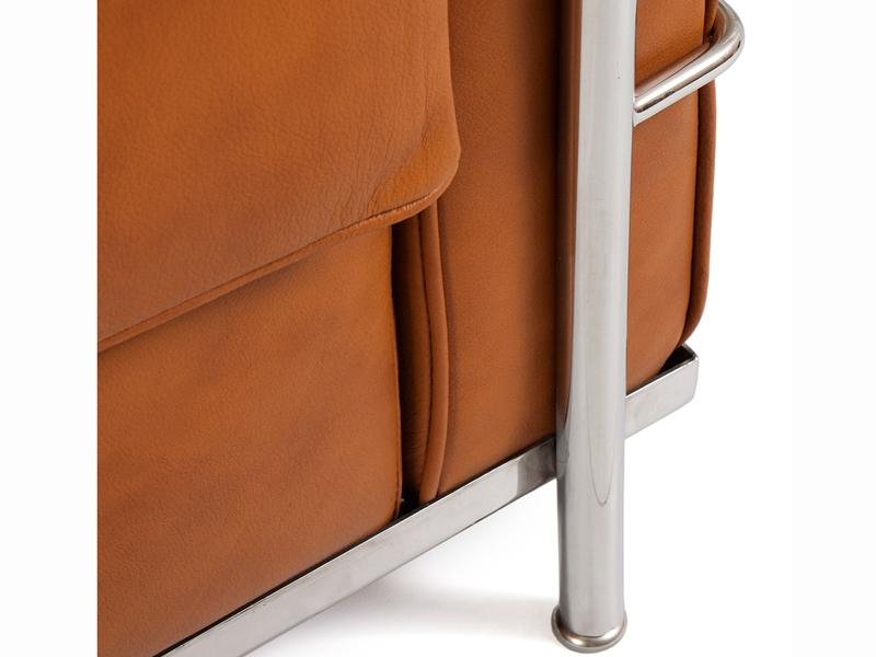 Image du fauteuil design LC2 Poltrona Le Corbusier - Caramello