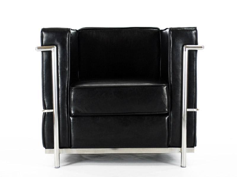 Lc2 poltrona le corbusier nero lucido - Poltrone famose design ...