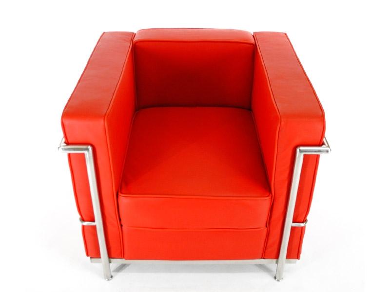 Image du fauteuil design LC2 Poltrona Le Corbusier - Rosso
