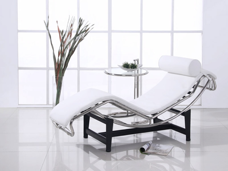 lc4 chaise longue blanc. Black Bedroom Furniture Sets. Home Design Ideas