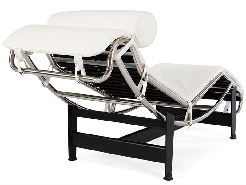 Lc4 chaise longue blanc for Chaise longue blanc pvc