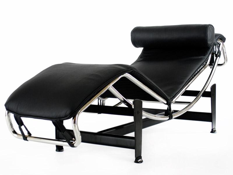 lc4 chaise longue noir. Black Bedroom Furniture Sets. Home Design Ideas