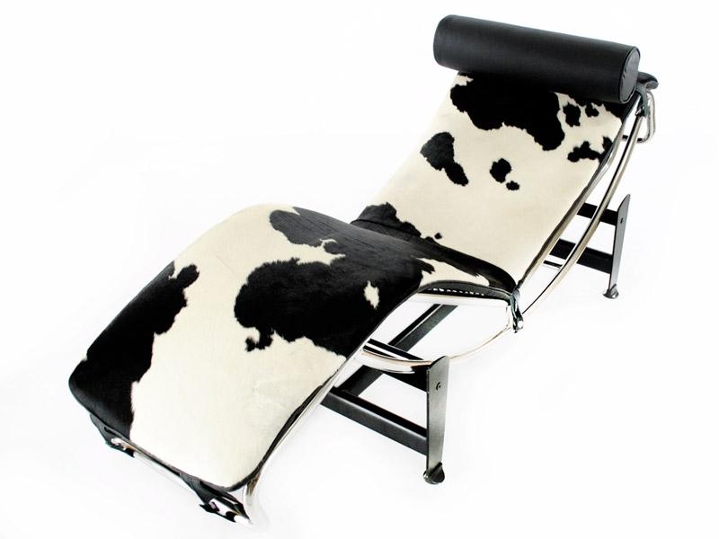 lc4 chaise longue pony noir blanc. Black Bedroom Furniture Sets. Home Design Ideas
