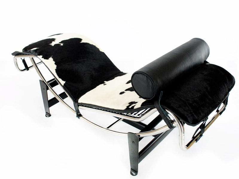 Image du fauteuil design LC4 Chaise longue - Pony noir/blanc