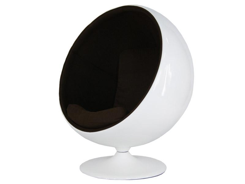 Image du fauteuil design Poltrona Ball Eero Aarnio - Caffè
