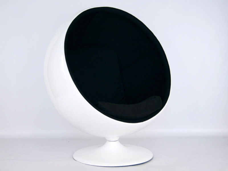 Image du fauteuil design Poltrona Ball Eero Aarnio - Nero