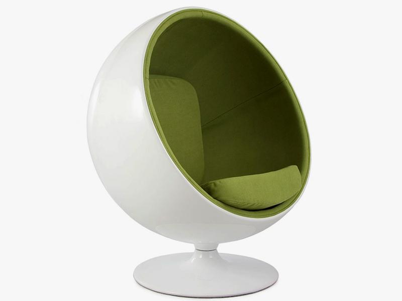 Image du fauteuil design Poltrona Ball Eero Aarnio - Verde