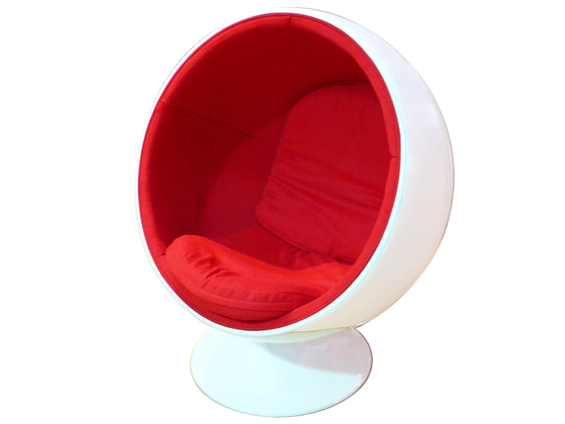 Image du fauteuil design Poltrona Ball - Rosso