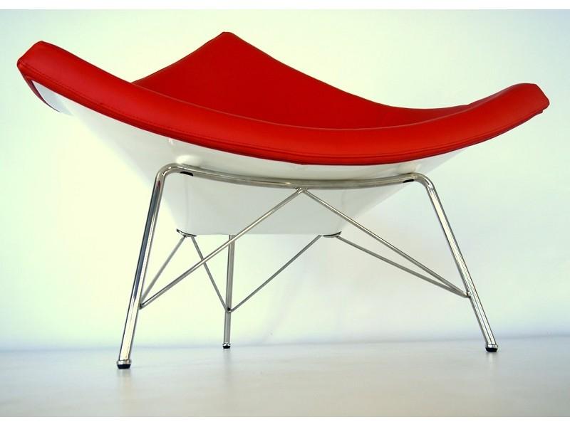 Image du fauteuil design Poltrona Coconut Nelson - Rosso
