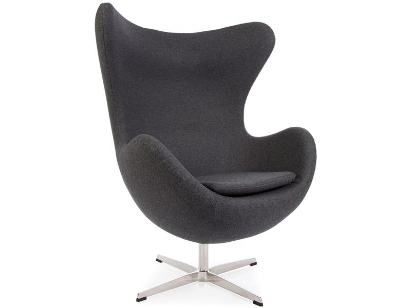 Image du fauteuil design Poltrona Egg AJ- Grigio scuro