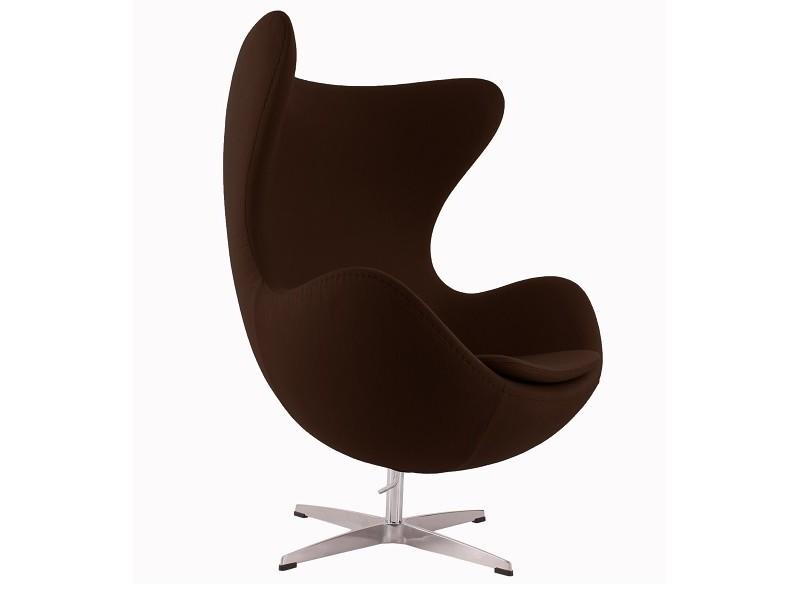 Image du fauteuil design Poltrona Egg AJ - Marrone