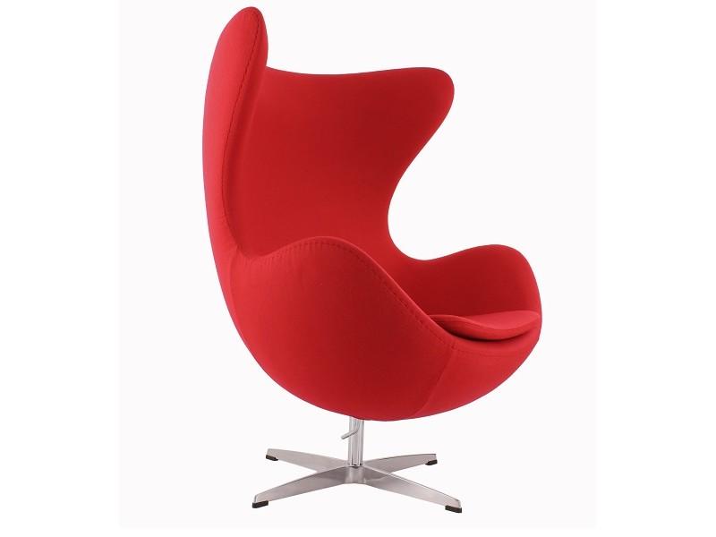 Image du fauteuil design Poltrona Egg AJ - Rosso