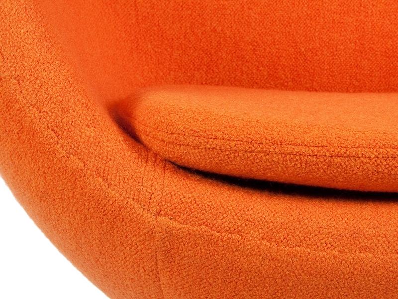 Image du fauteuil design Poltrona Egg Arne Jacobsen - Arancio