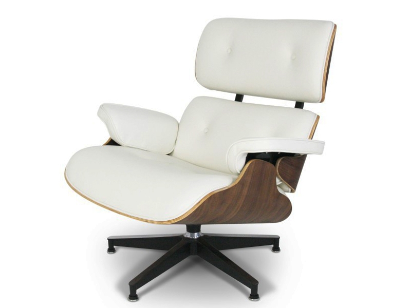 Poltrona lounge eames noce chiaro for Poltrone famose design