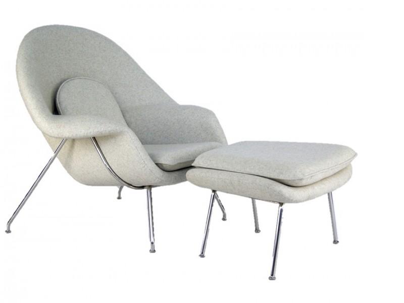 Image du fauteuil design Poltrona Womb - Crema bianca