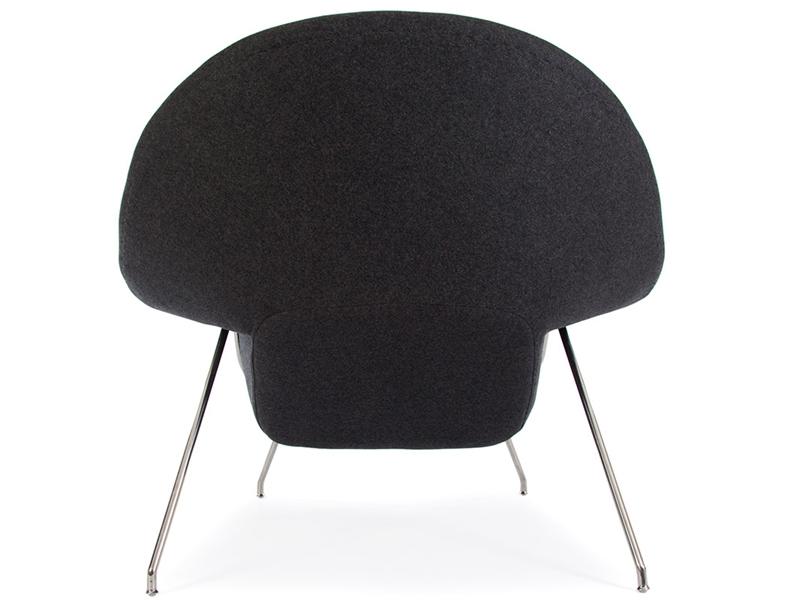 Image du fauteuil design Poltrona Womb - Grigio scuro