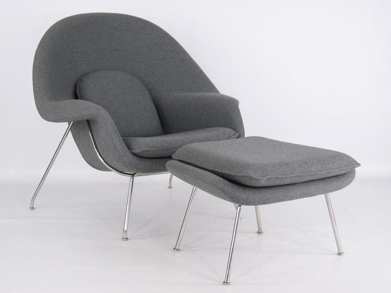 Image du fauteuil design Poltrona Womb - Grigio