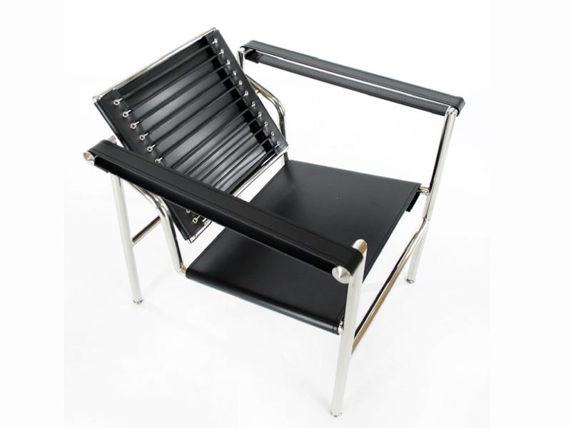 sedia lc1 le corbusier nero. Black Bedroom Furniture Sets. Home Design Ideas