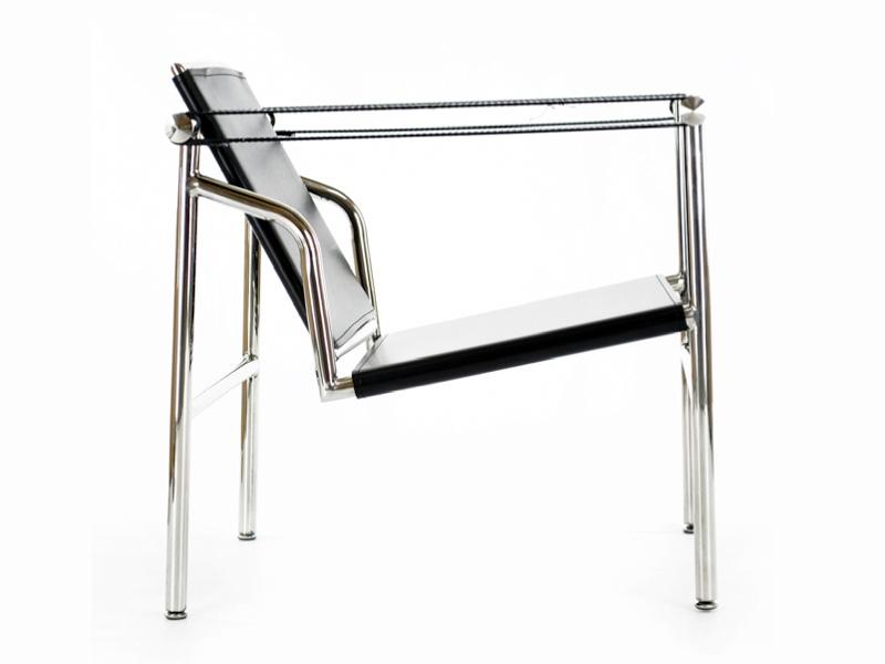 Sedia lc1 le corbusier nero - Poltrone famose design ...