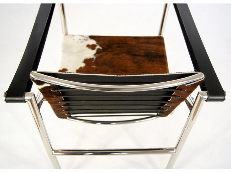 Image du fauteuil design Sedia LC1 Le Corbusier - Pony marrone