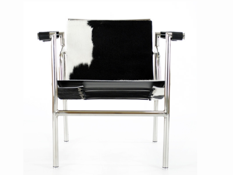Sedia lc1 le corbusier pony nero - Le corbusier sedia ...