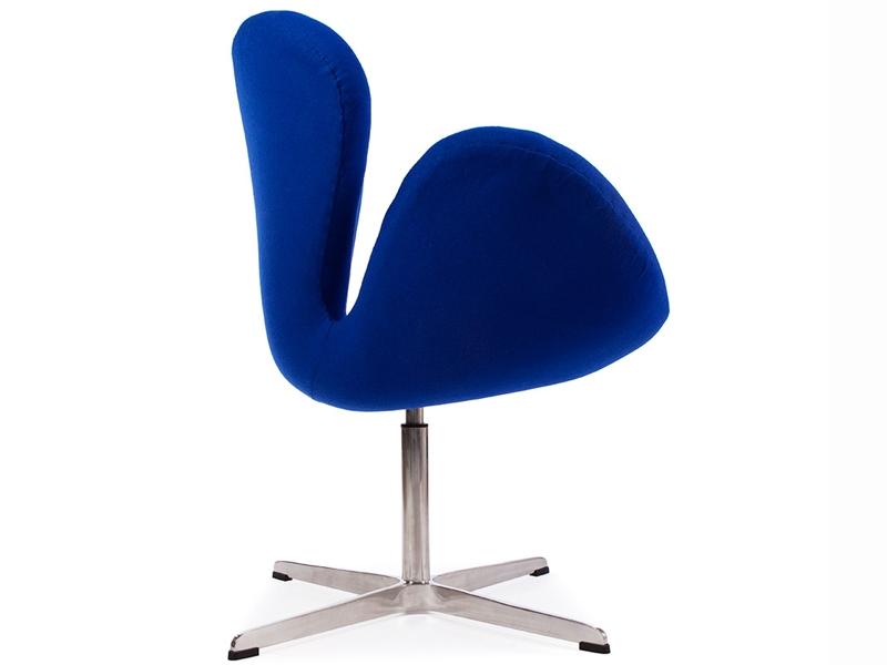 Image du fauteuil design Sedia Swan Arne Jacobsen - Blu