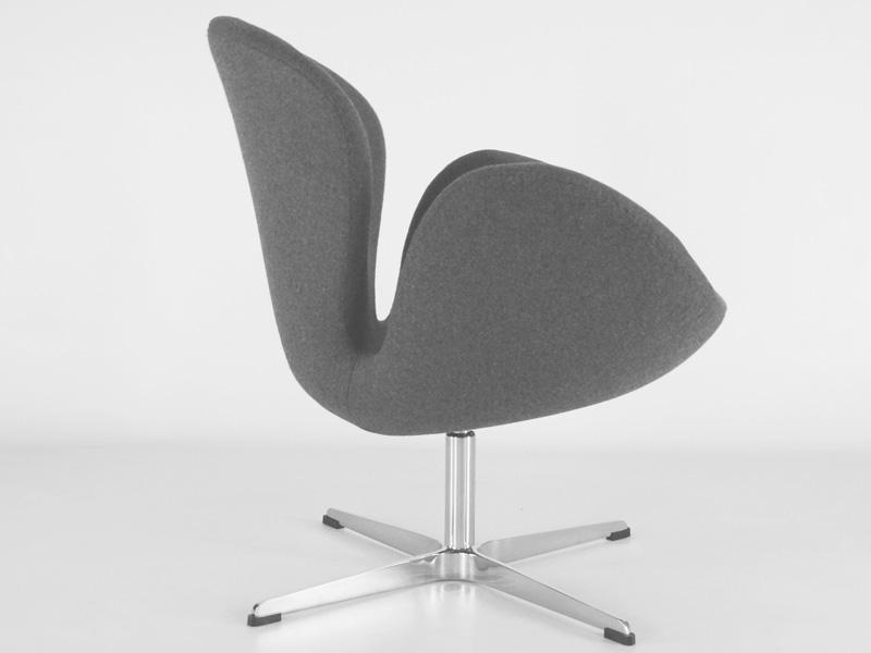Image du fauteuil design Sedia Swan Arne Jacobsen - Grigio