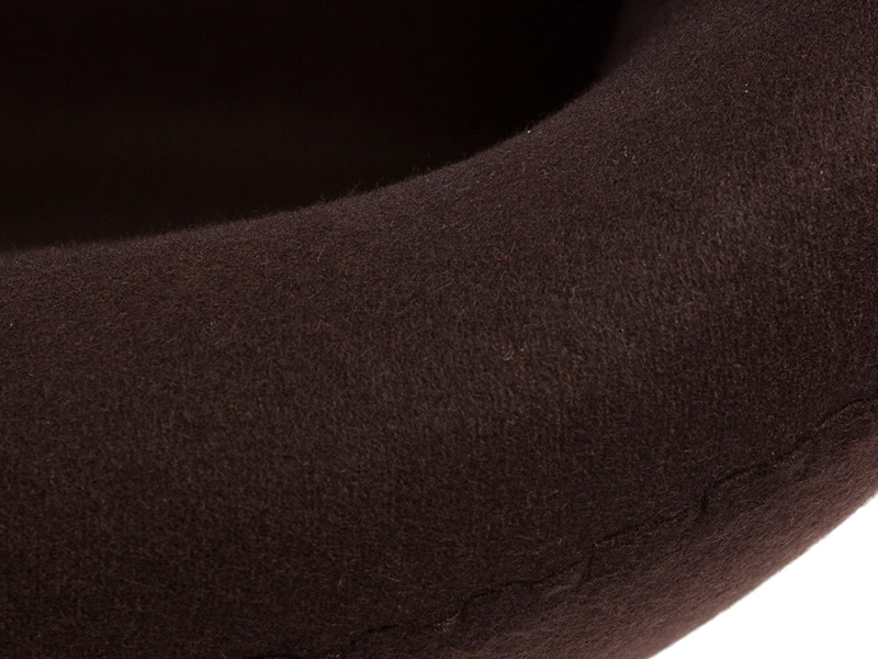 Image du fauteuil design Sedia Swan Arne Jacobsen - Marrone