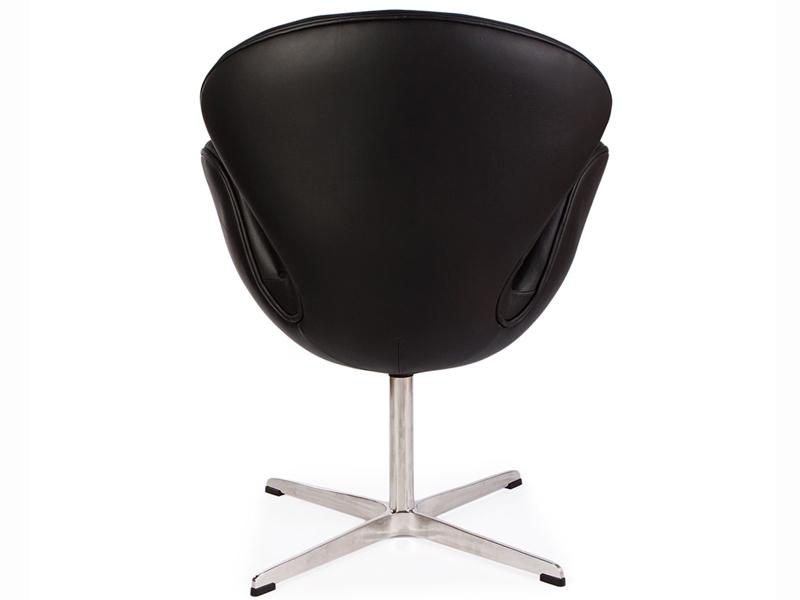 Image du fauteuil design Sedia Swan Arne Jacobsen - Nero