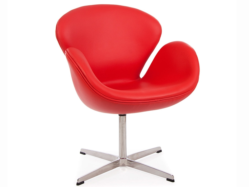 Sedia swan arne jacobsen rosso - Poltrone famose design ...