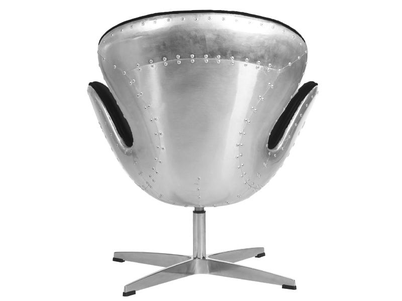 Image du fauteuil design Sedia Swan Spitfire AJ - Nero