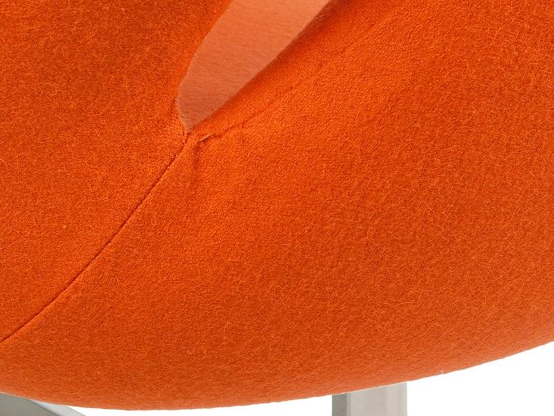 Image du fauteuil design Swan 2 places Arne Jacobsen - Orange
