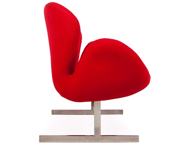 Image du fauteuil design Swan 2 places Arne Jacobsen - Rouge