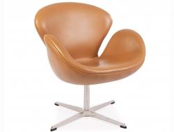Image du fauteuil design Chaise Swan Arne Jacobsen - Caramel