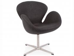 Image du fauteuil design Chaise Swan Arne Jacobsen - Gris