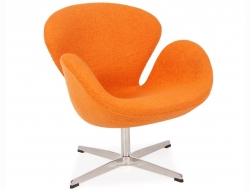 Image du fauteuil design Chaise Swan Arne Jacobsen - Orange