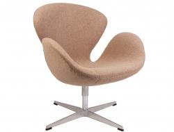Image du fauteuil design Chaise Swan Arne Jacobsen - Sable
