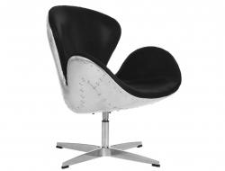 Image du fauteuil design Chaise Swan Spitfire AJ - Noir