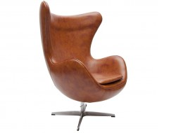 "Image du fauteuil design Egg Arne Jacobsen - Marrone ""Vintage"""