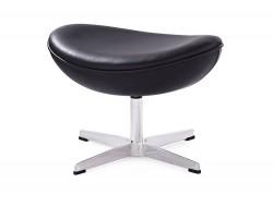 Image du fauteuil design Egg Ottoman Arne Jacobsen - Nero