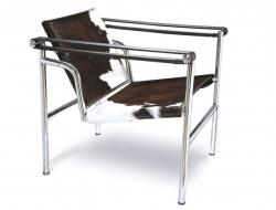 Image du fauteuil design LC1 Chaise Le Corbusier - Pony Marron
