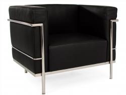 Image du fauteuil design LC2 Fauteuil Large Le Corbusier - Noir