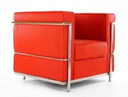 Image du fauteuil design LC2 Fauteuil Le Corbusier - Rouge