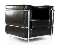 Image du fauteuil design LC2 Le Corbusier - Noir Brillant